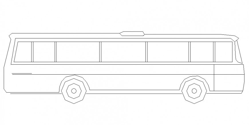 Autocad file of a minibus