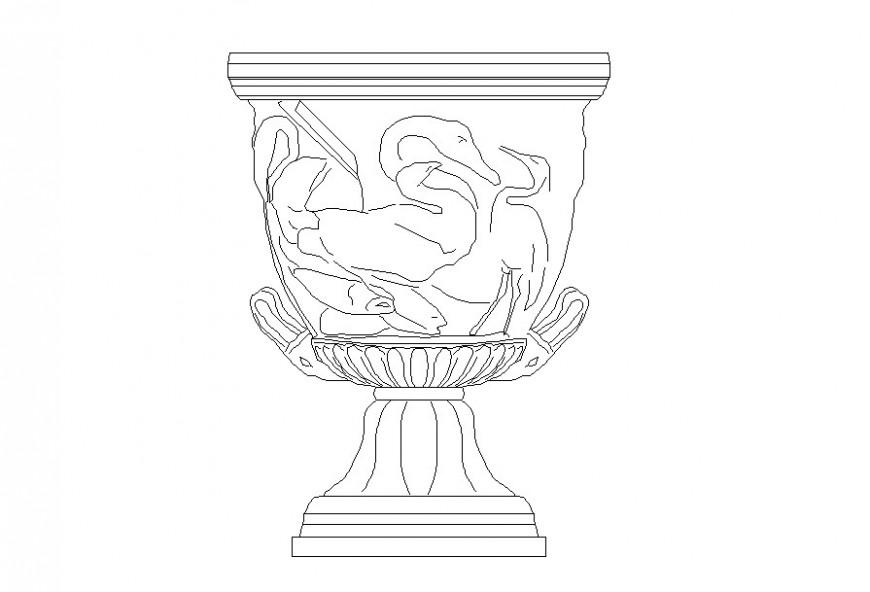 Autocad file of antique vase block