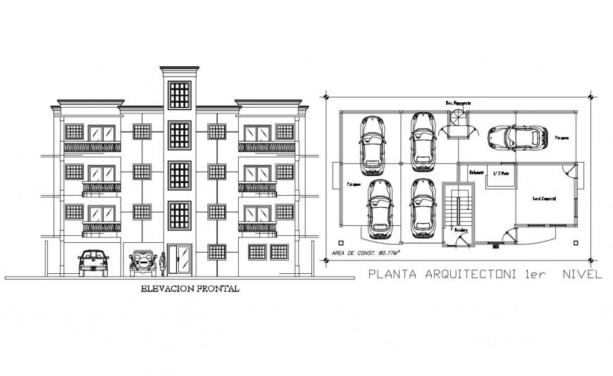 Autocad file of apartment 2d design