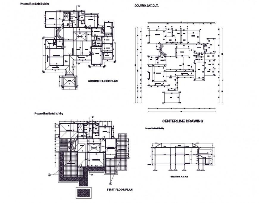 AutoCAD file of big house 2d details