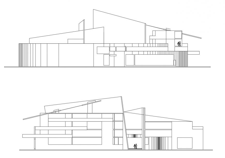 AutoCAD file of cultural center 2d details