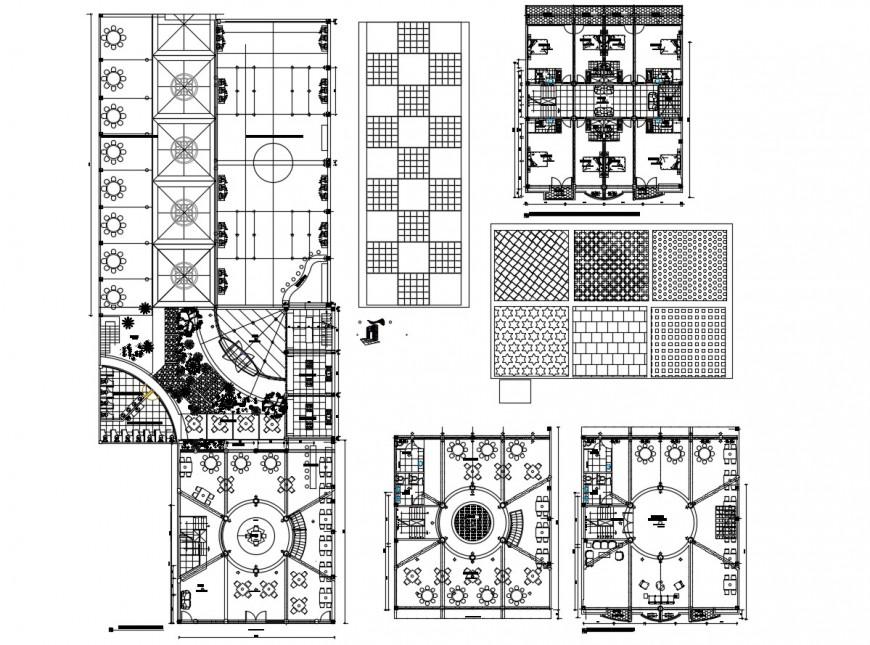 Autocad file of disco hotel 2d details