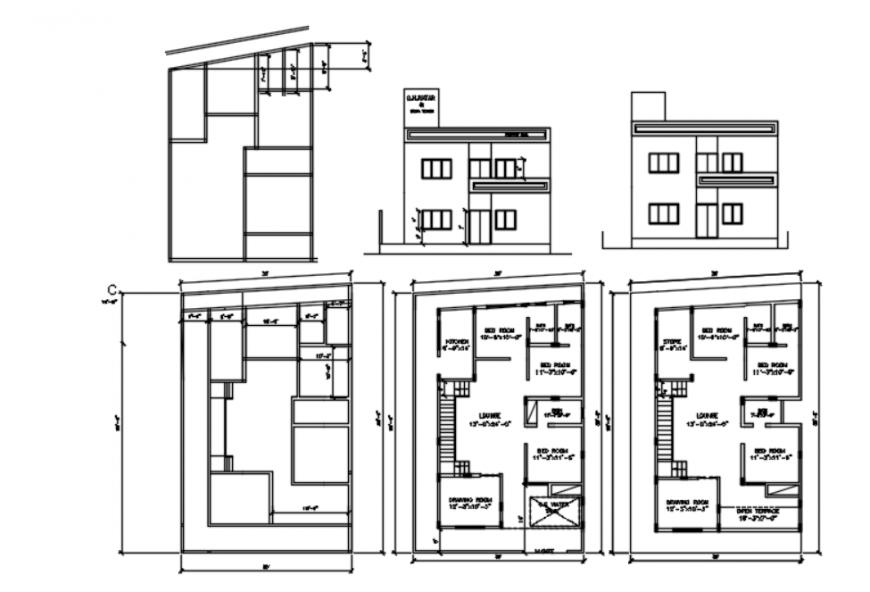 Autocad file of farmhouse 2d detail