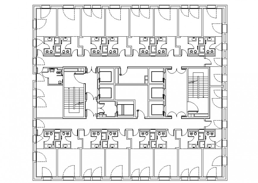 Autocad file of floor plan which includes toilet top view details.