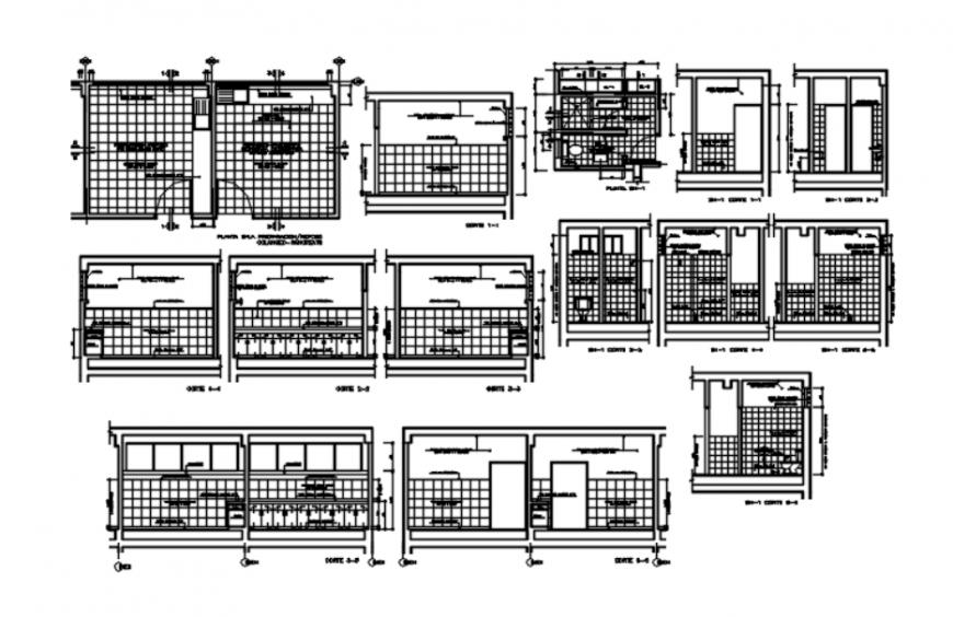 Autocad file of hospital furnishing plan details