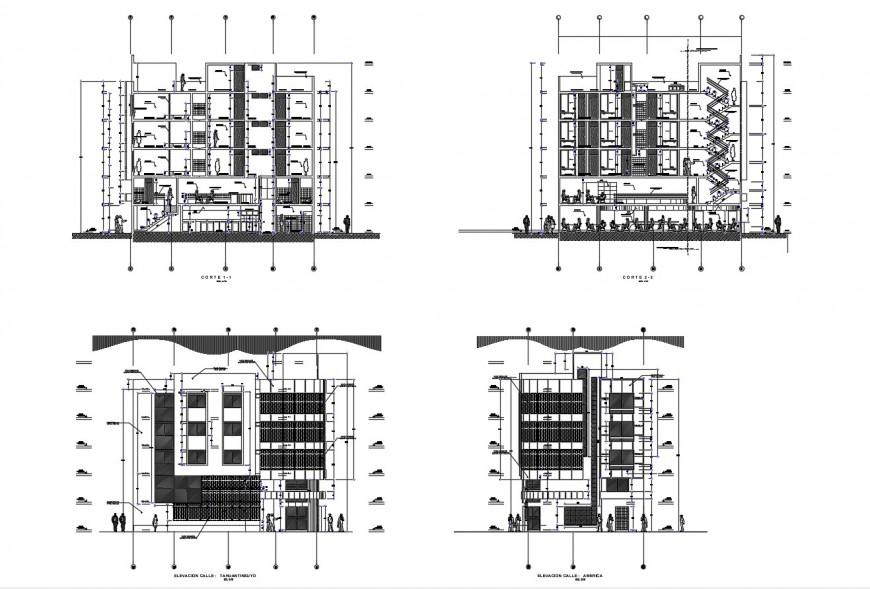 Autocad file of hotel architecture