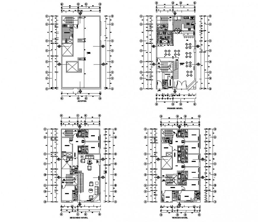 AutoCAD file of hotel model 2d detail