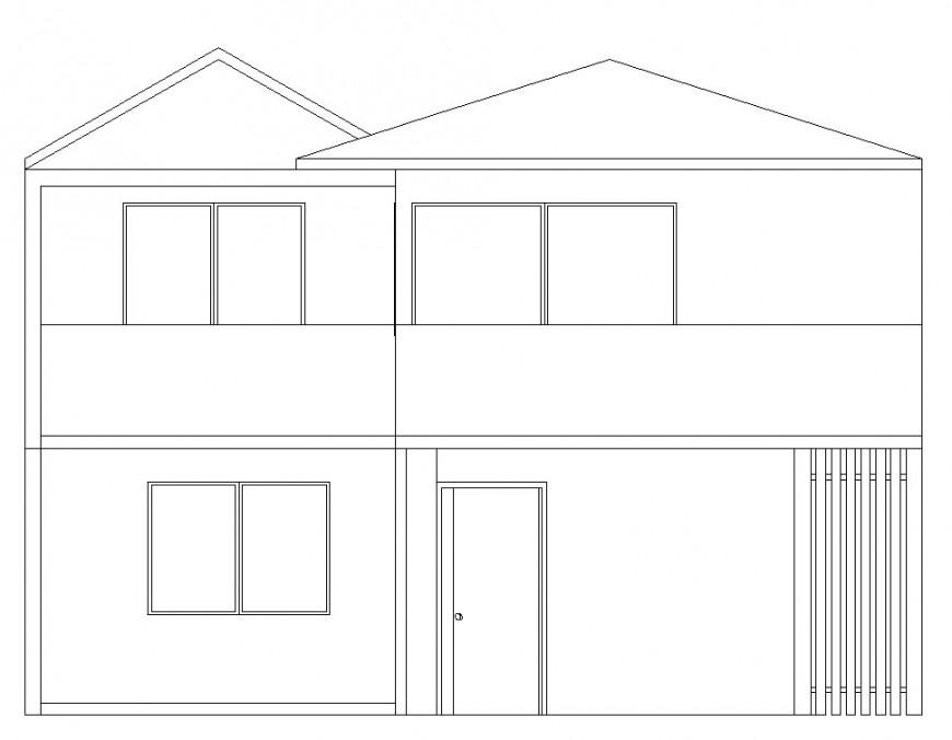 Autocad file of house design 2d block details