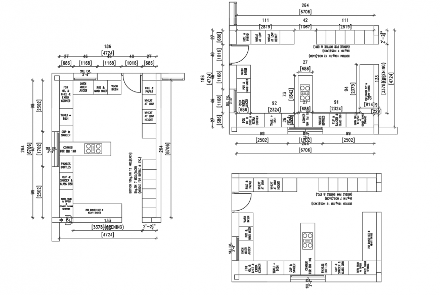 Autocad file of kitchen layout 2d design AutoCAD file