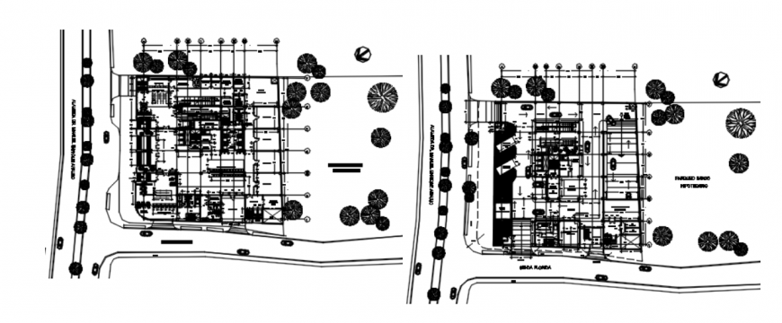 AutoCAD file of office center