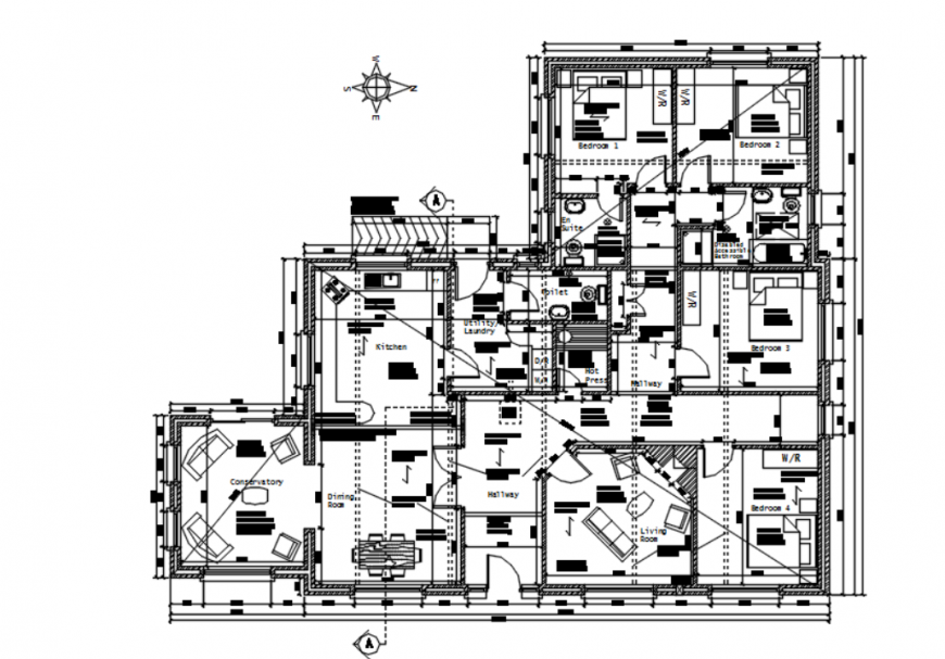 Autocad file of residential house block