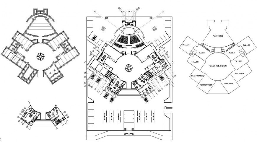 AUTOCAD file of school building 2d details
