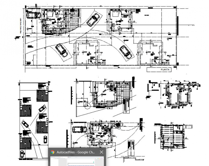 AUTOCAD file of single room house plan details