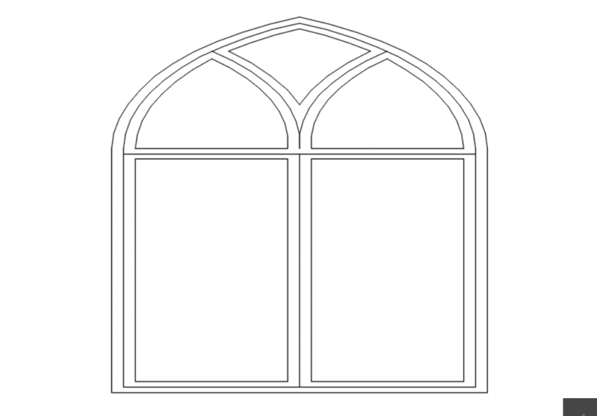 AutoCAD file of window elevation design 2d AutoCAD file
