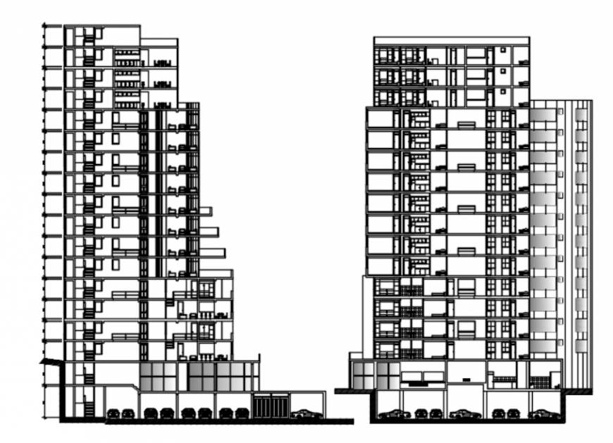 Autocad files of high-density housing tower 2d details AutoCAD file