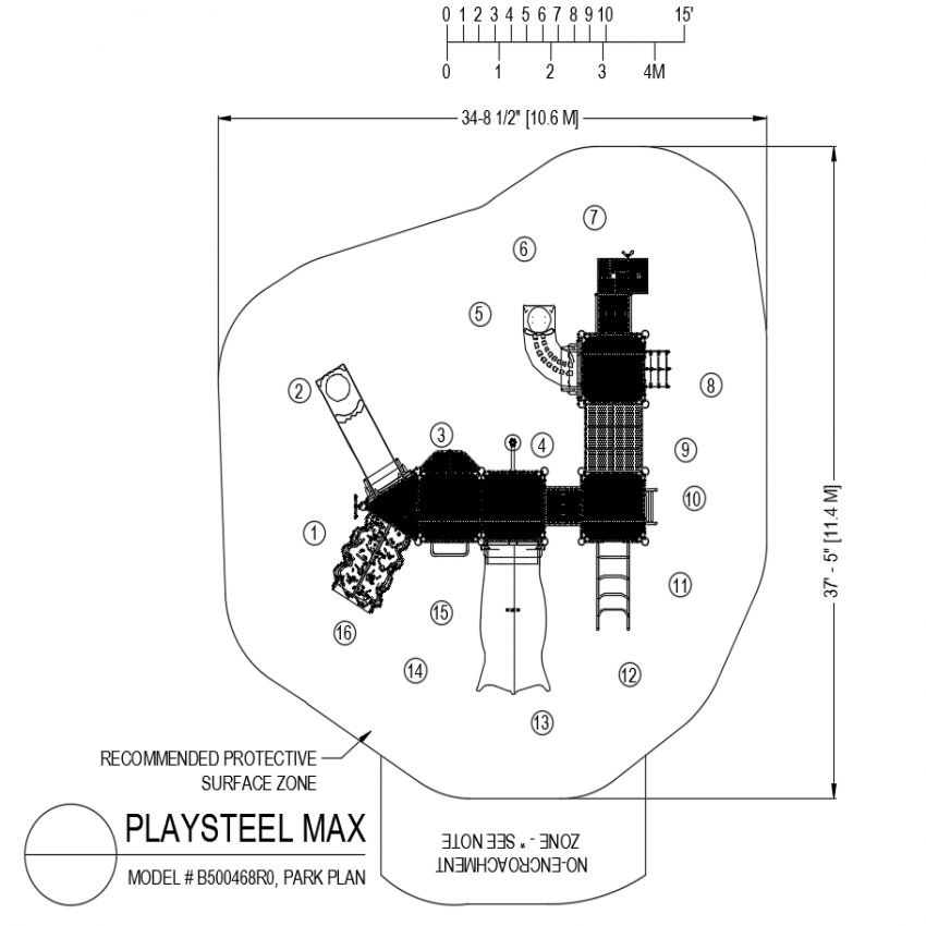 B500468RO model no. play steel max park plan dwg file