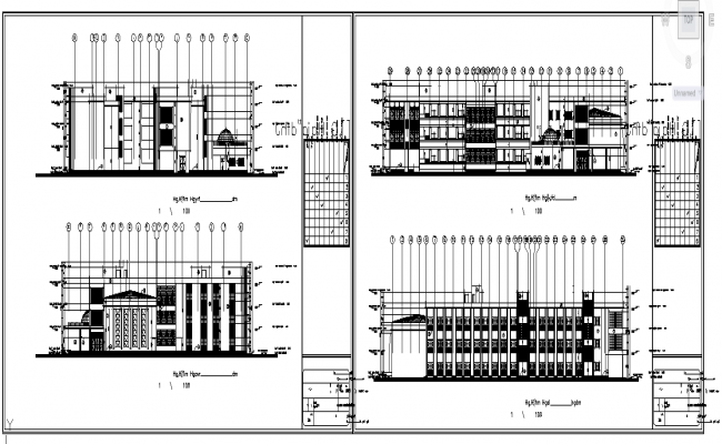 School Building Elevation
