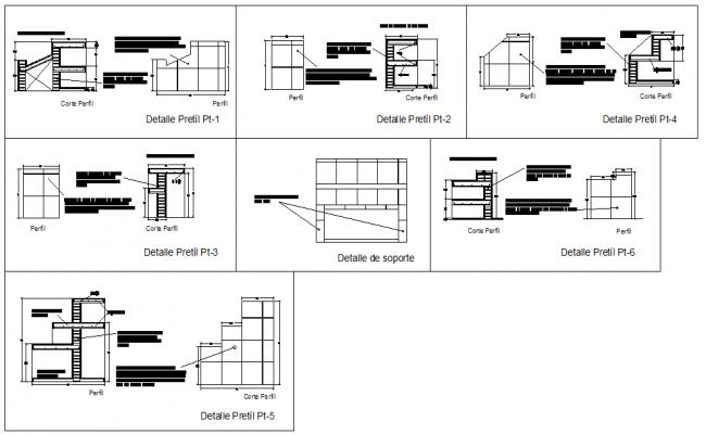 Details of Bars Parapet