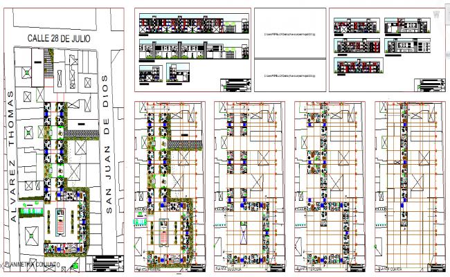 Residential complex detail plan
