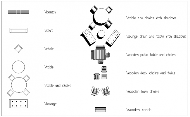 Furniture Symbol Block