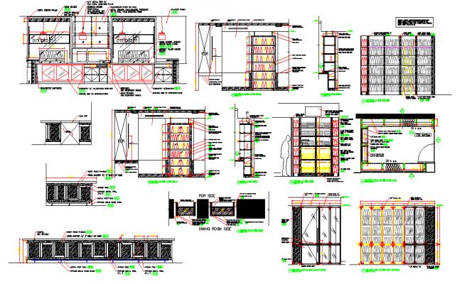 Restaurant mill work details