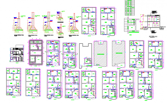 Duplex house detail