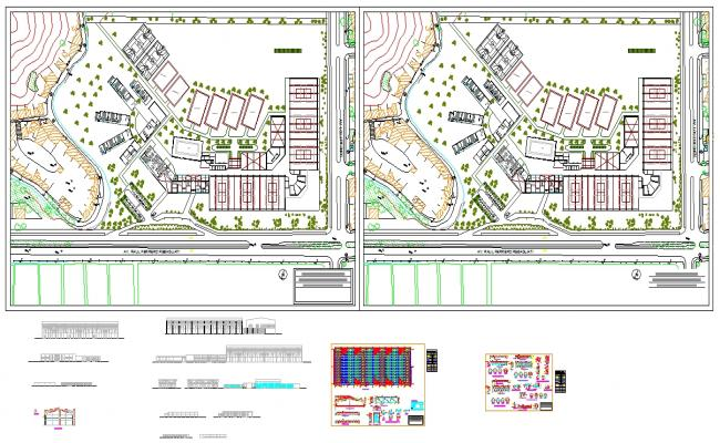 Student Hostel Lay-out Plan