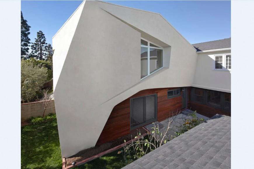 Back drawing 3d model of residential house jpg file