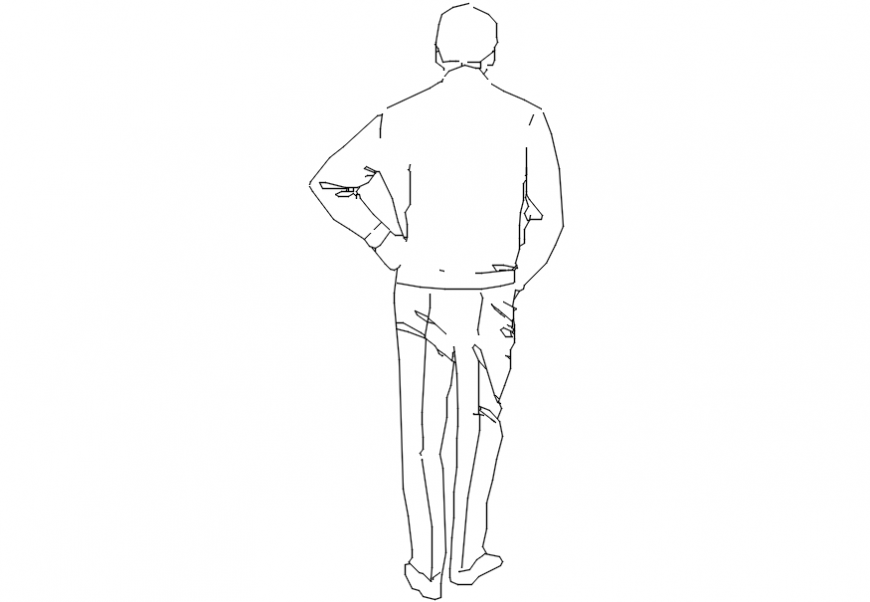 back pose dwg file