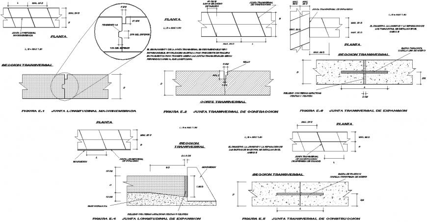 Backup rod -floors-bridle joint detail dwg file