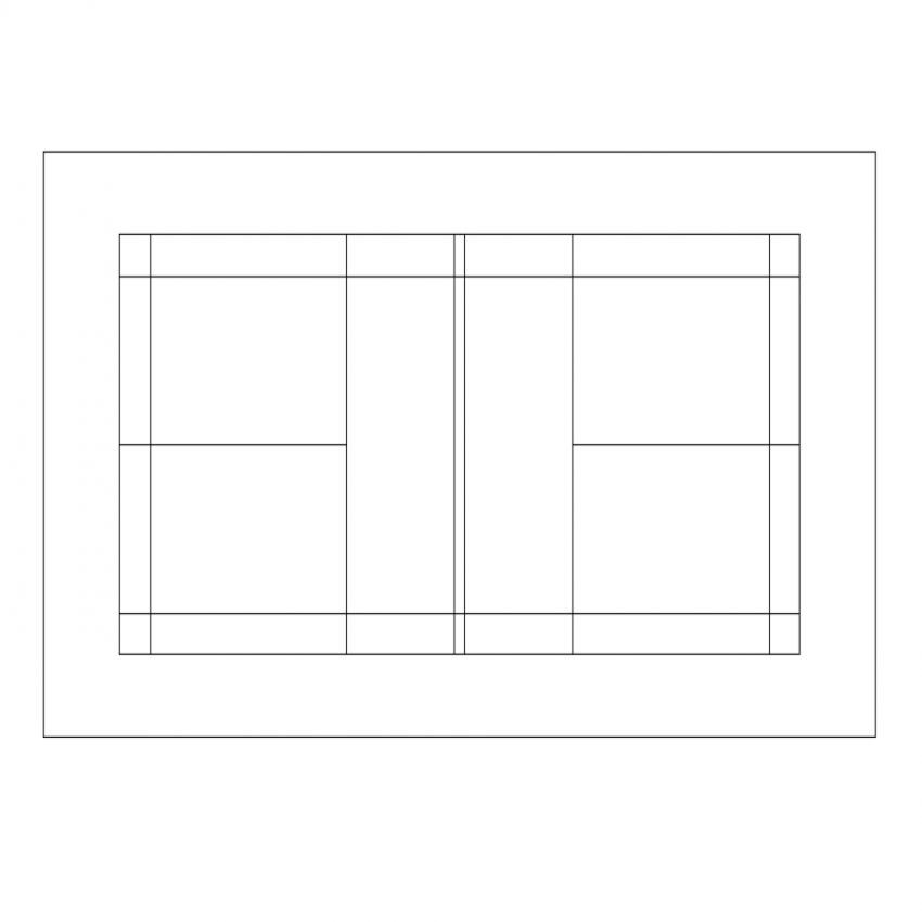 Badminton sports ground design top view dwg file