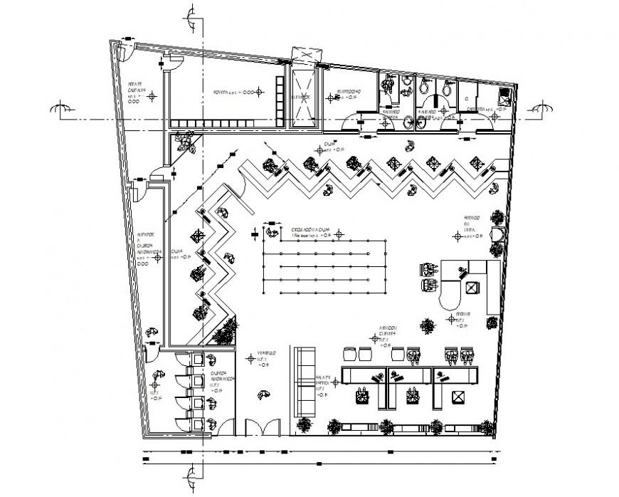bank layout plan drawing autocad file