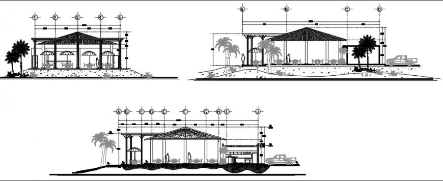 Bar architcetural elevation