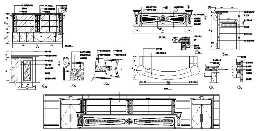 Bar Design CAD Detailing plan, elevation and section autocad file