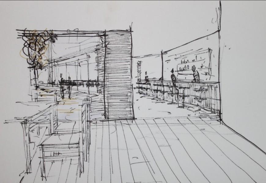 Bar sketch 2d detailing