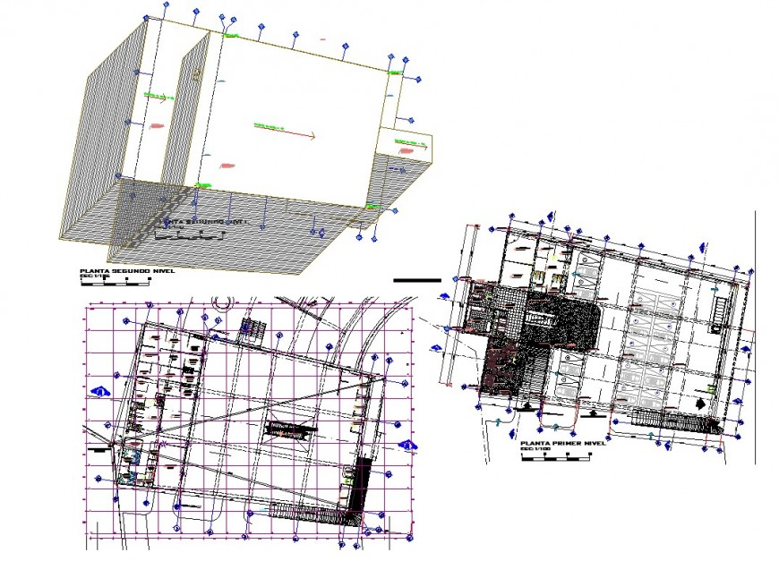 Basement and leveling commercial building plan layout file