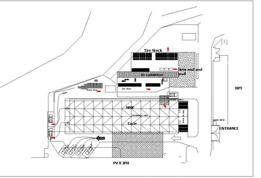 Basement car market plan autocad file