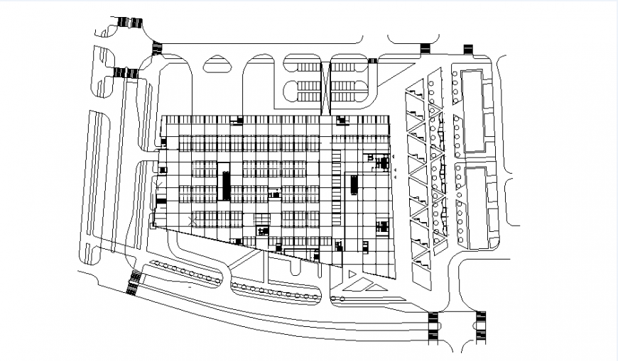 Basement car parking plan dwg file