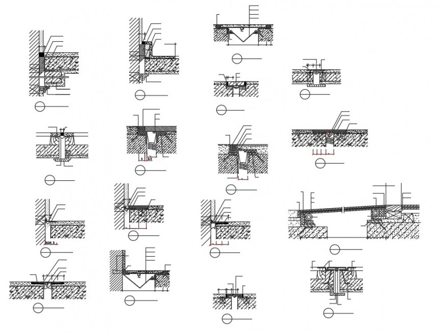 Basement construction plan detail dwg file