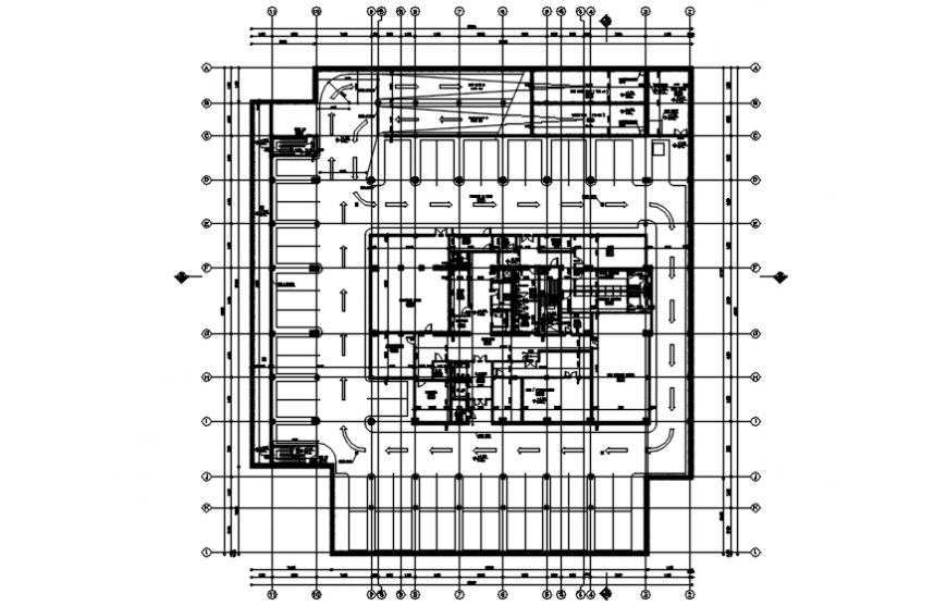 Basement floor plan drawing details for low office dwg file