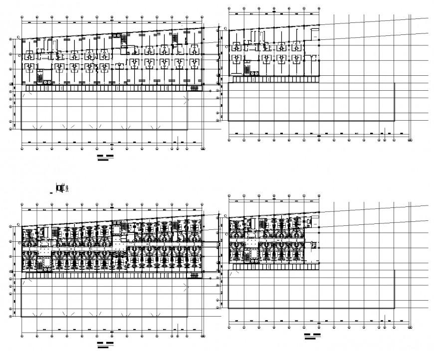 Basement parking and building plan autocad file