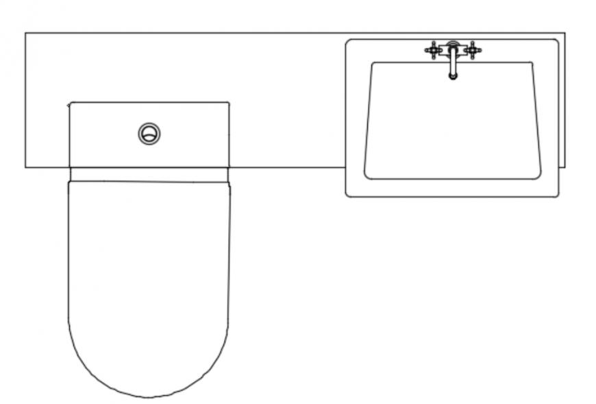 Basin and toilet vanity unit