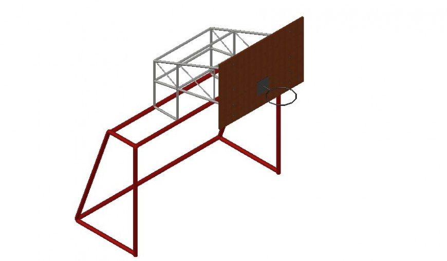 Basket ball 3d detail dwg file