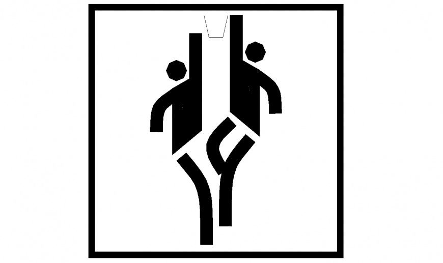 Basket ball signage block in dwg AutoCAD file.