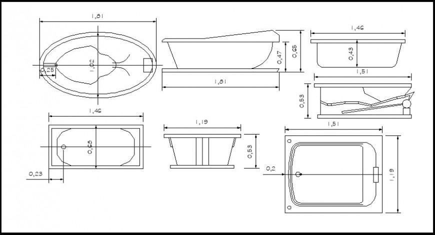 Bath tub details block