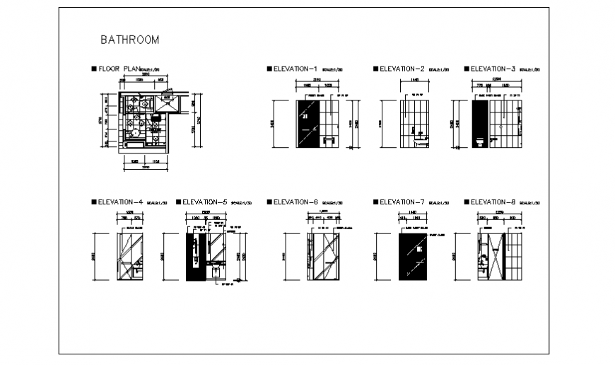 Bathroom design of Twin bed room for hotel room project design drawing
