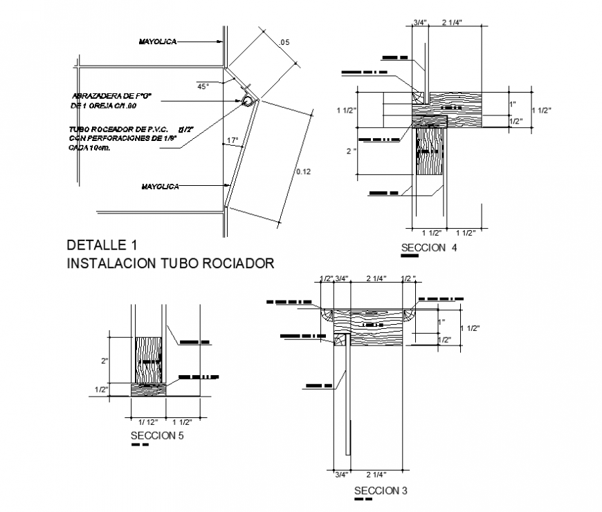 Bathroom door detail elevation and plan dwg file