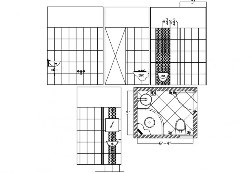 Bathroom elevation design and interior