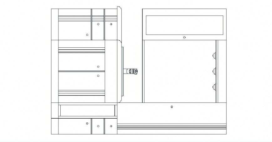 Bathroom furniture 2d elevation block cad drawing details dwg file