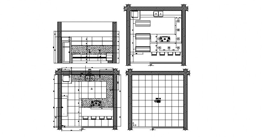 Bathroom plan and elevation in AutoCAD file